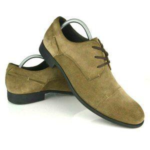 John Varvatos Oxford Taupe Suede Dress Shoes 9.5